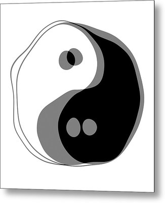 Inebriated Yin Yang Metal Print by Daniel Hagerman