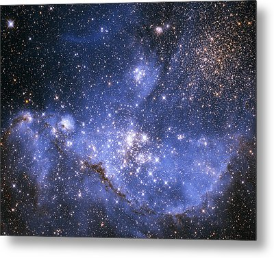 Infant Stars In The Small Magellanic Cloud Metal Print by Nasa