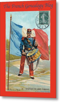 Infantry Of The Line Drummer With Fgb Border Metal Print
