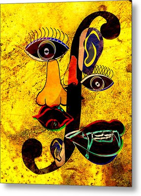 Infected Picasso Metal Print by Ally  White