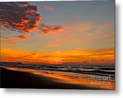 Inferno Sky Metal Print by Eve Spring
