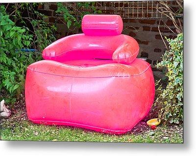 Inflatable Chair Metal Print