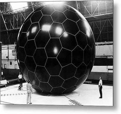 Inflatable Satellite Metal Print