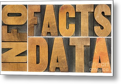Information Data Facts Metal Print by Marek Uliasz