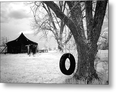 Infrared View Of Rural Alabama Metal Print