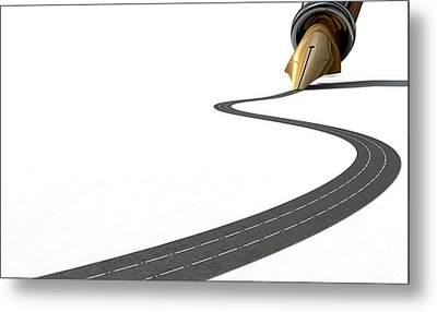 Infrastructure Pen And Road Metal Print by Allan Swart