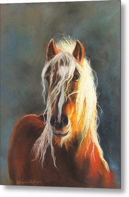 Metal Print featuring the pastel Ingalyl by Karen Kennedy Chatham