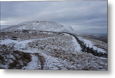 Ingleborough Metal Print by Riley Handforth