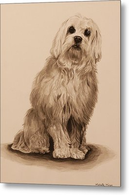Ink Dog Metal Print by Michelle Miron-Rebbe