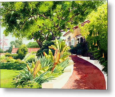 Inn At Rancho Santa Fe Metal Print by Mary Helmreich