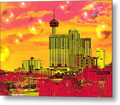 Inner City - Day Dreams Metal Print by Wendy J St Christopher