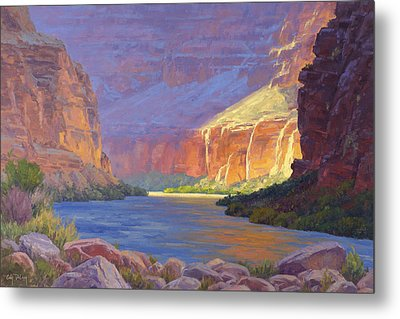 Inner Glow Of The Canyon Metal Print