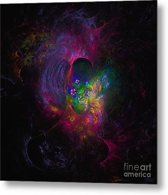 Metal Print featuring the digital art Inner Psyche by Arlene Sundby