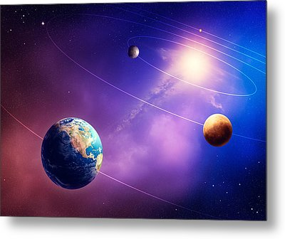 Inner Solar System Planets Metal Print