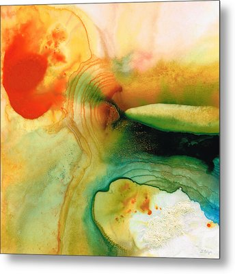 Inner Strength - Abstract Painting By Sharon Cummings Metal Print