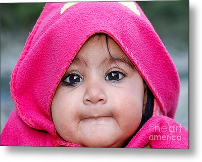 Metal Print featuring the photograph Innocence by Fotosas Photography