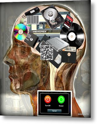 Input - Output - Processing And Storage Of The Data And Information Metal Print