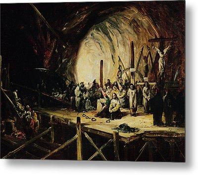 Inquisition Scene, 1851 Oil On Canvas Metal Print