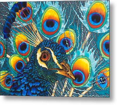 Insane Peacock Metal Print by Daniel Jean-Baptiste