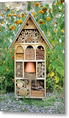 Insect Hotel Metal Print