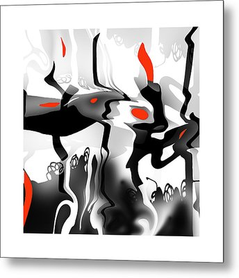 Metal Print featuring the digital art Insect  T  Sides by Bob Salo