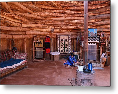 Inside A Navajo Home Metal Print