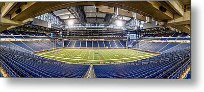 Inside Ford Field Metal Print