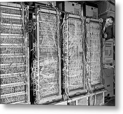 Inside Of Main Frame Computer Metal Print
