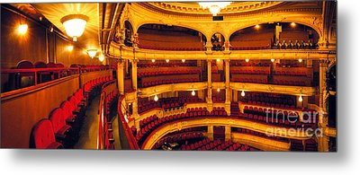 Metal Print featuring the photograph Inside Of Old Theatre by Michael Edwards
