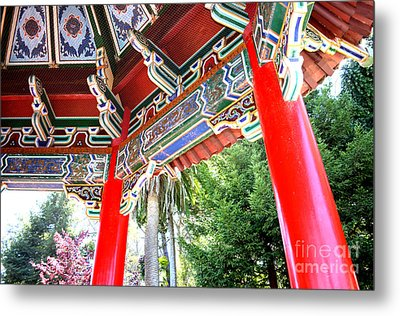 Inside Of The Stow Lake Pagoda Metal Print by Jim Fitzpatrick