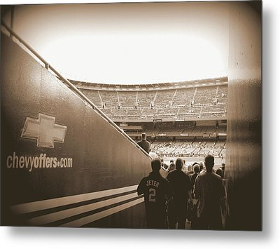 Metal Print featuring the photograph Inside The Cathedral Of Baseball by Aurelio Zucco