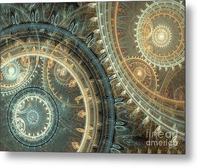 Inside The Clock Metal Print by Martin Capek