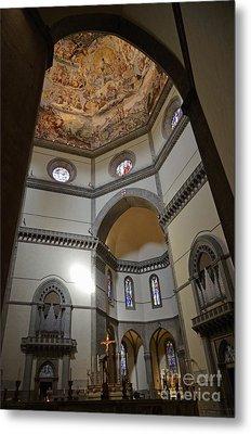 Inside The Duomo Of Florence Metal Print by Sami Sarkis