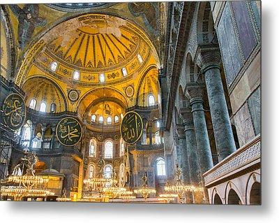 Inside The Hagia Sophia Istanbul Metal Print