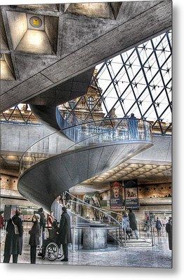 Inside The Louvre Museum In Paris Metal Print