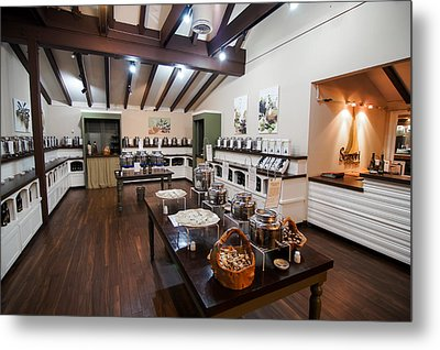 Metal Print featuring the photograph Inside The Oil And Vinegar Shop by Jeremy Farnsworth