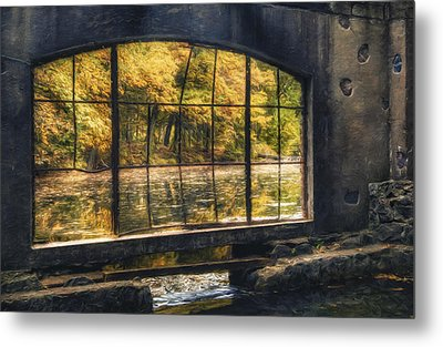 Inside The Old Spring House Metal Print by Scott Norris