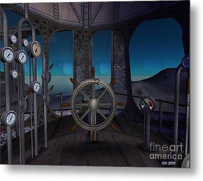 Metal Print featuring the digital art Inside The Ship by Susanne Baumann