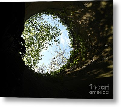 Inside The Silo Metal Print by Jane Ford