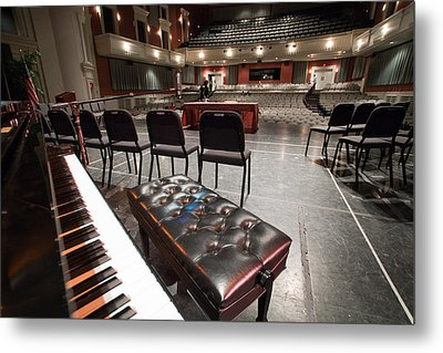 Metal Print featuring the photograph Inside Theater by Alex Grichenko