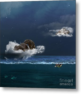 Insomnia Metal Print by Martine Roch