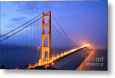 The Golden Gate Bridge Metal Print by Along The Trail