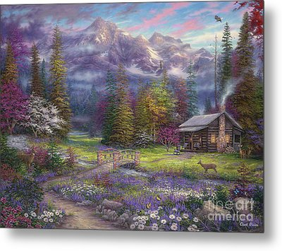 Inspiration Of Spring Meadows Metal Print by Chuck Pinson