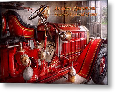 Inspiration - Truck - Waiting For A Call Metal Print by Mike Savad