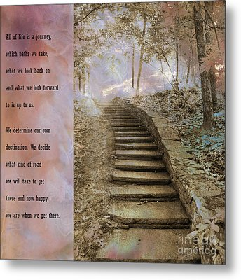 Inspirational Art Nature - Stairs To Heaven - Dreamy Nature Metal Print by Kathy Fornal
