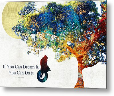 Inspirational Art - You Can Do It - Sharon Cummings Metal Print