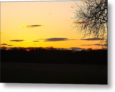 Metal Print featuring the photograph Inspirational Sunset  by Ann Murphy