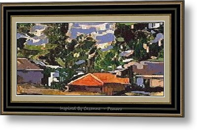 Metal Print featuring the painting Inspired By Cezanne Ibc2 by Pemaro