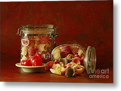 Inspired By Pasta Metal Print by Inspired Nature Photography Fine Art Photography