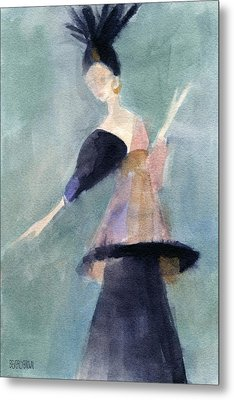 Inspired By Paul Poiret Fashion Illustration Art Print Metal Print by Beverly Brown Prints